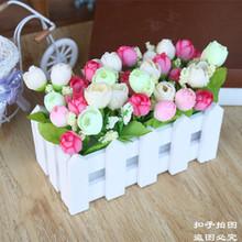 16cm двойной цвет бутон роуз заборы цветок моделирование цветок качели установить моделирование цветочные наборы цзянсу чжэцзян шанхай аньхой