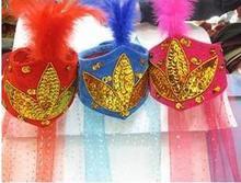 Синьцзян размер гонка шляпа синьцзян цветы крышка синьцзян с пряжи головной убор производительность производительность танец реквизит пряжа полотенце крышка