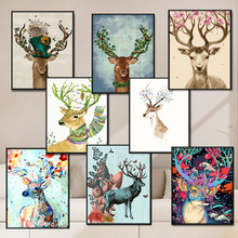 Легко выдающийся diy цифровой живопись раскраска мультфильм животных переполнение гостиная картины спальня заполнить цвет масла цвет живопись ручная роспись декоративный живопись