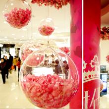 Большого размера гранула акрил мяч полый пластиковые мяч крупномасштабный прозрачный мяч торговый центр брелок diy декоративный вешать мяч