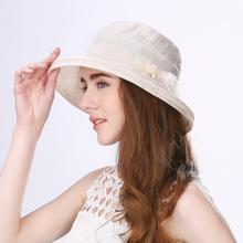 Крышка официальный обмен шляпа женщина весна корейский элегантный ведро путешествие складные солнце шлем женщины ученый затенение рыбак крышка
