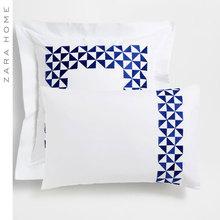 Zara Home геометрия вышивка близко тканые наволочка (2 только установлен ) 46993091250