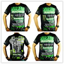 Новый лезвие напрямик T футболки новый гоночный случайный короткий рукав мотоцикл T футболки пот пот быстросохнущий рубашка