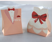 Bride and Groom Suit wedding candy boxes sweet box Favor Box