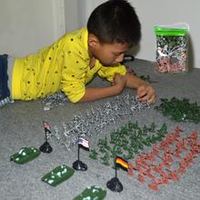 Yi река злодей игрушка пластик солдат модель военный установите бак игрушка военный модель автомобиль игрушка солдат
