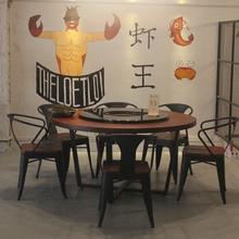 Мультиплеер loft американский круглый стол обеденный стол сделать старый большой круг стол промышленность ретро круглый обеденный стол железо дерево круглый стол