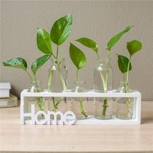 Творческий гидропоника ваза прозрачное стекло небольшой свежий личность украшение гостиная рабочий стол декоративный светло-зеленый редис завод позволять устройство