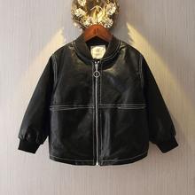Ребенок плюс бархат куртка корейский мальчиков кожаная одежда пальто 2017 новый зимний осенний уплотнённый энди сокровище зима корейская волна