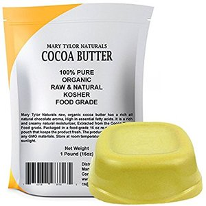 Organic Cocoa Butter 1 lb Bar Unrefined Food Grade & Ed
