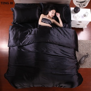 HOT! 100% pure satin silk bedding set,Home Textile King size