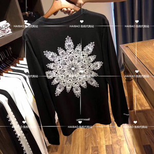 日本正品代购 Chrome hearts 克罗心CH大雪花长袖T恤男女体恤衫潮