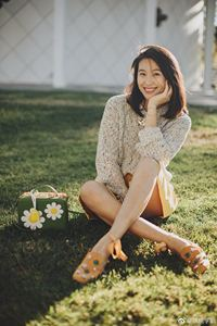 lab LaberThree真丝花朵鞋 晚晚学姐同款