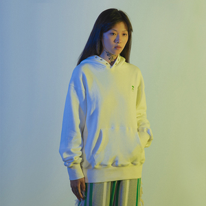 CONP 20AW Taiji Embroidery Hoodie 白绿中指太极连帽卫衣