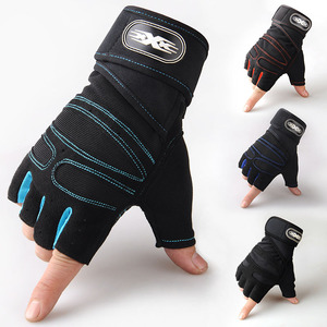Outdoor Gym Winter Windproof Sports Fingerless Gloves 手套男