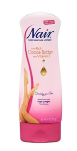 现货Nair Cocoa Butter Hair Remover Lotion, 9 Oz