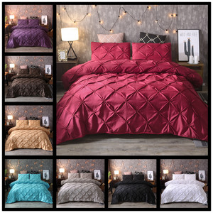 Home textile plain cotton bedding covers pillowslip被套3pcs