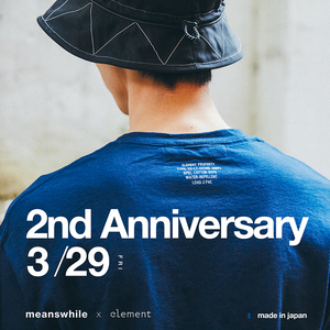 现货 meanswhile x element anti-stain s/s  2周年限定纯棉防水T