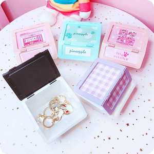 Student desktop storage box jewelry box mini storage consoli
