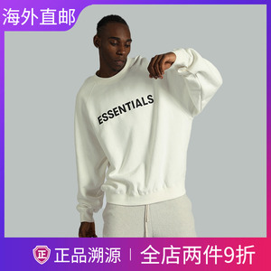 FEAR OF GOD ESSENTIALS新复线长袖T恤男女情侣高街胸前字母卫衣