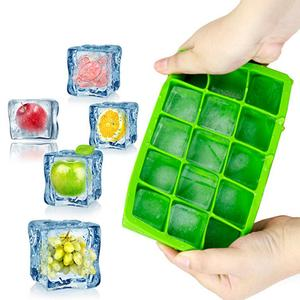 New 15 Ice Cubes Cube Pudding Jelly Silicone Tray Maker Moul