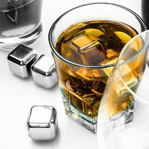 DISU Reusable Square Stainless Steel Ice Cubes Whiskey Coole