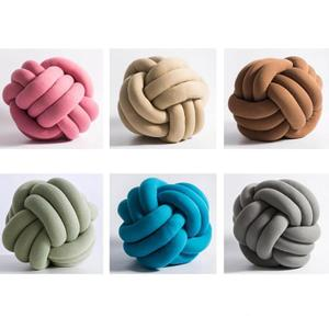 Knot Ball Chunky Cushion Concise Throw Knotted Pillow Home D