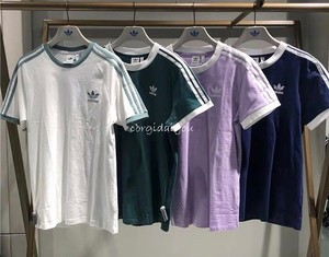 柯基代购 ADIDAS Originals 3 Stripes三叶草三道杠短袖T恤CY4751