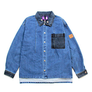 现货 THE NORTH FACE Broken Twill Denim Shirt 紫标牛仔夹克