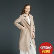 Girls long cashmere coat Irina international 2017 new winter wool coat, 5385 double.