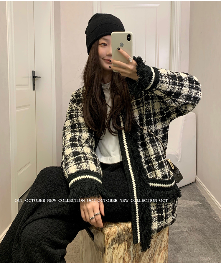 OCT 2021 Spring Modern Guding Su bag edge custom black and white classic time-out jacket