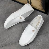 Белая фасоль обувь мужская корейская версия тенденции дикий весна ленивый диск мужская повседневная кожаная обувь тонкое дно 2020 новый