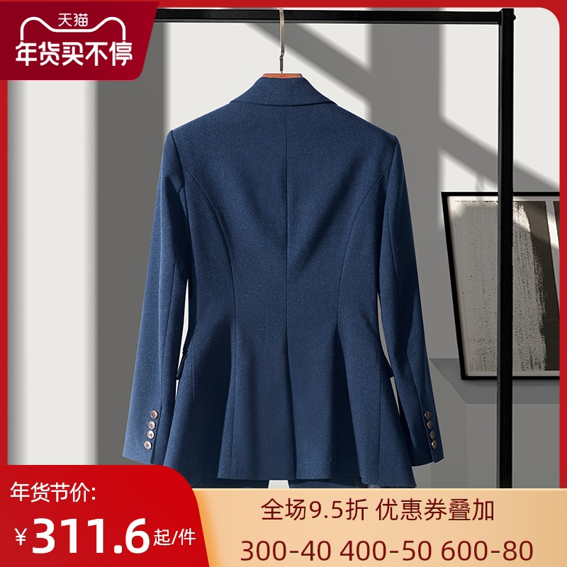 High-end professional suit suit womens fashion Korean version of the British style sample house exhibition center workwear casual suit jacket