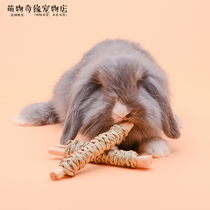 New Rabbit straw sweet Bamboo roll dragon cat guinea pig molar food Hong Kong Mr.hay Mr. Cao Toy supplies