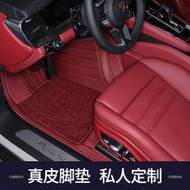 2021 Porsche Cayenne coupé nouveau macan para Mela taycan entièrement encerclé voiture en cuir véritable pied pad