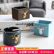 Personality trend ashtray ins creative large wind ashtray living room office home decoration gift ornaments