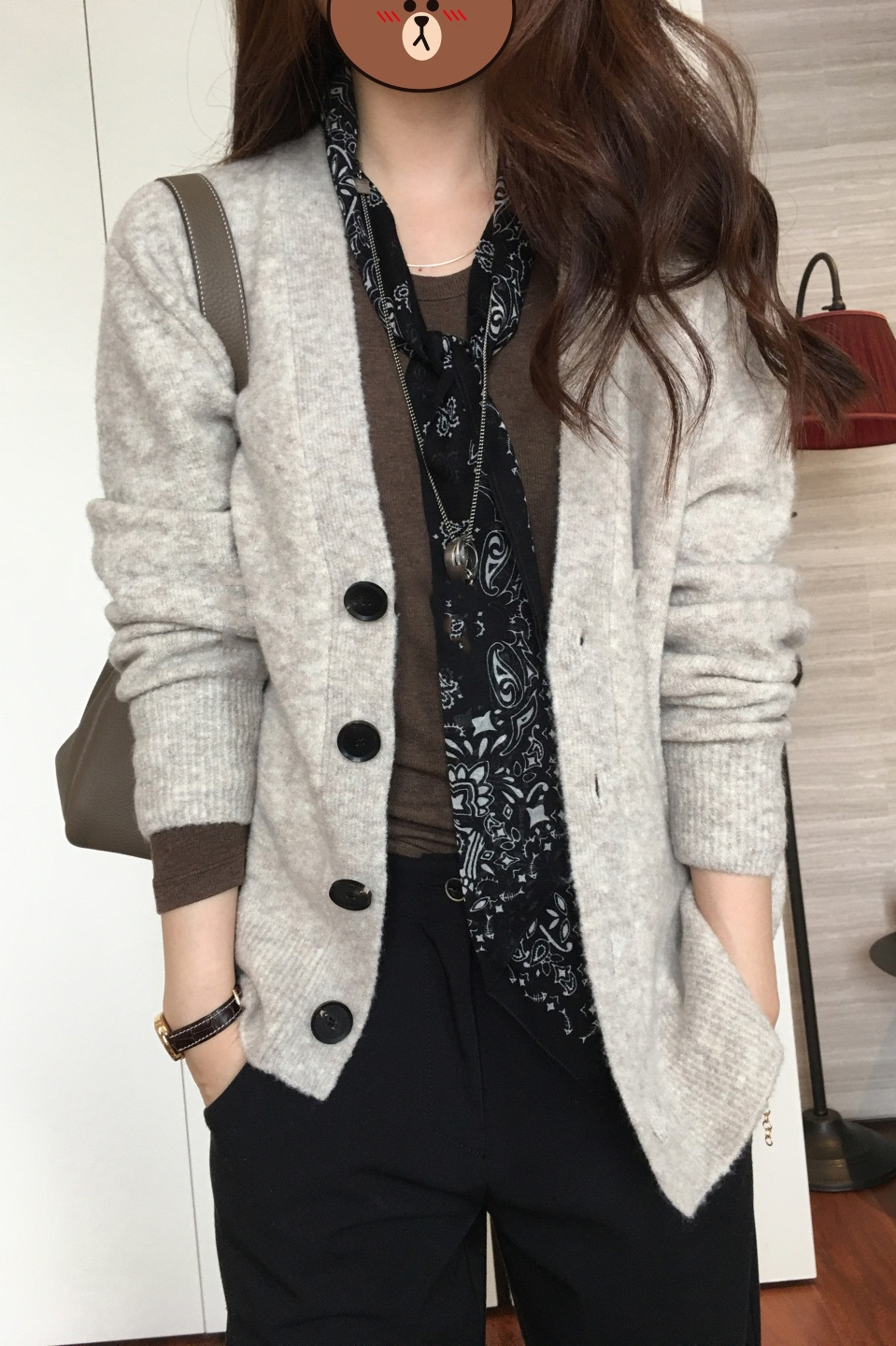 v-neck small incense wind retro outside with cashmere cardigan knitted jacket 2021 spring models female gentle lazy wind sweater