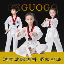 Nolikang Taekwondo clothing childrens cotton short long-sleeved clothing breathable training men and women adult cotton summer beginners