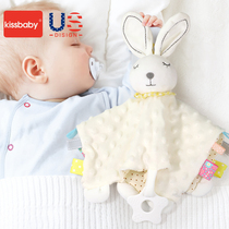kissbaby baby comfort towel can be imported baby toys 0-1 doll to appease the baby hand puppet sleep artifact