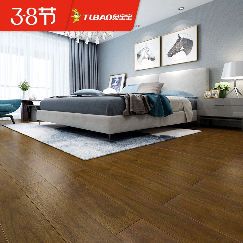 Bunny green floor solid wood reinforced laminate floor privilege deposit 10 to 200 yuan reservation customization