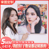 Pin Painting Nail Painting Diy Custom Photo Wedding Gift Handcrafted Nail Creative Puzzle Portrait Homemade