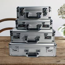 Portable boarding Lockbox Suitcase air aluminum frame box file storage business travel portable large and small boxes