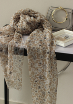European and American trends Daisy! Extremely beautiful! Italian-French elegance bloom cashmere scarf shawl