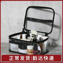 Travel Network red transparent cosmetic bag ins wind Super fire female portable large-capacity cosmetics skin care products storage bag
