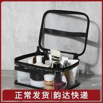 Путешествия чистая красная прозрачная косметическая сумка ins ветер супер огонь женщины портативный большой емкости косметический уход за кожей сумка для хранения