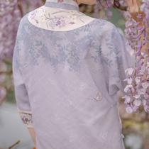 Chuandai: Flowers in the depths of the original design Full cardigan loose cheongsam suit Cheongsam jacket suspender base