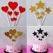 Birthday glitter paper insert card love heart cake dress insert sign cake insert star plug wholesale
