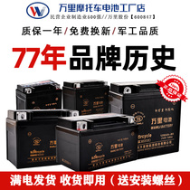Wanli Motorcycle dry storage battery Battery 12V volt maintenance-free 125 curved beam Knight pedal Straddle 7a9a Universal