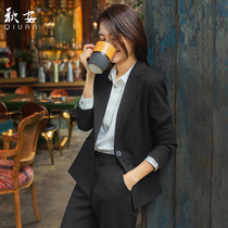 Professional clothing spring and autumn suit temperament civil servant interview formal dress female college students work clothes small suit womens suit