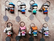Badminton + key Buckle pack bag doll pendant jewelry pendant key Buckle Competition Prize gift