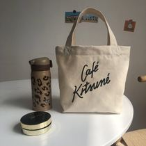 Work canvas bag womens French hundred with simple letter cafe coffee canvas bag 託 special bag cute little tote bag